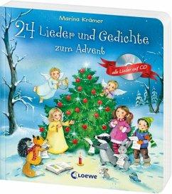 24 Lieder und Gedichte zum Advent, m. Audio-CD