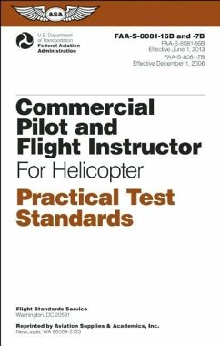 Commercial Pilot and Flight Instructor Practical Test Standards for Helicopter: Faa-S-8081-16b and Faa-S-8081-7b - Federal Aviation Administration (Faa)/Av