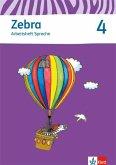 Zebra 4 Arbeitsheft Sprache 4. Schuljahr