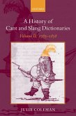 A History of Cant and Slang Dictionaries (eBook, PDF)