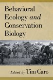 Behavioral Ecology and Conservation Biology (eBook, PDF)