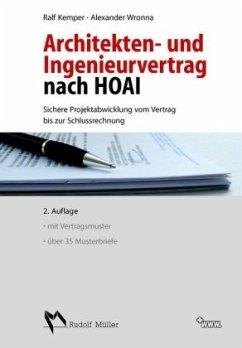Architekten- und Ingenieurvertrag nach HOAI - Kemper, Ralf;Wronna, Alexander