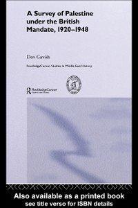 Survey of Palestine Under the British Mandate, 1920-1948 (eBook, PDF)