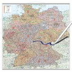 Bacher Postleitzahlen-Karte Deutschland, Posterlandkarte beschichtet