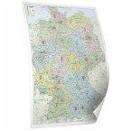 Bacher Organisations-Karte Deutschland, Posterlandkarte, beschichtet