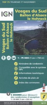 IGN Karte, Tourisme et Randonnée Vosges du Sud, Ballon d' Alsace, le Hohneck