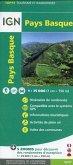 IGN 75 000 Touristische Wanderkarte Pays Basque