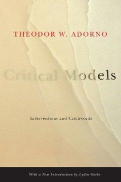 Critical Models (eBook, ePUB) - Adorno, Theodor W.