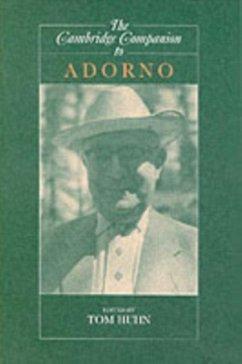 Cambridge Companion to Adorno (eBook, PDF)
