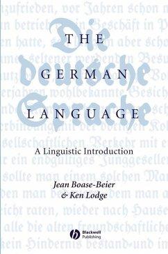 The German Language (eBook, PDF) - Boase-Beier, Jean; Lodge, Ken R.