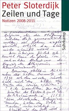 Zeilen und Tage - Sloterdijk, Peter