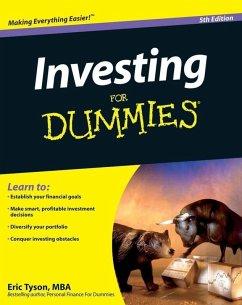 Investing For Dummies (eBook, PDF) - Tyson, Eric