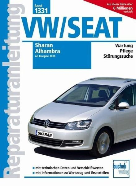 vw sharan seat alhambra ab bj 2010 buch. Black Bedroom Furniture Sets. Home Design Ideas