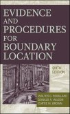 Evidence and Procedures for Boundary Location (eBook, ePUB)