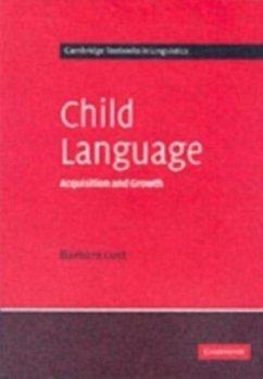 Child Language (eBook, PDF) - Lust, Barbara C.