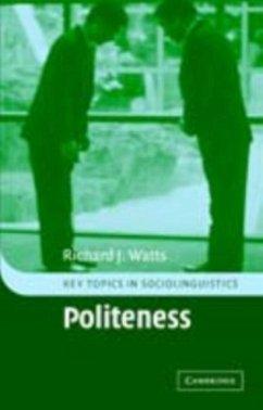 Politeness (eBook, PDF) - Watts, Richard J.