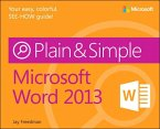 Microsoft Word 2013 Plain & Simple (eBook, PDF)