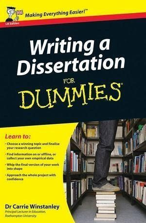Writing a dissertation for dummies uk edition