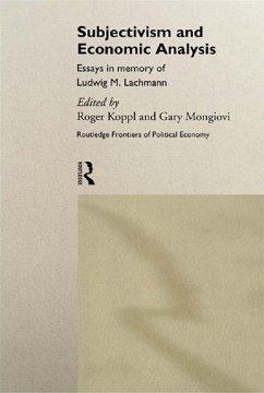 Subjectivism and Economic Analysis (eBook, ePUB)