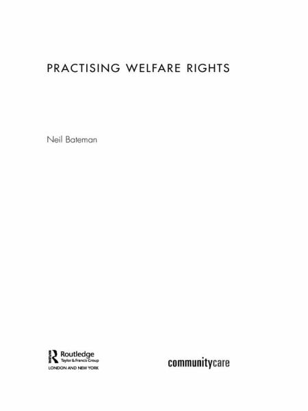 Practising Welfare Rights (eBook, ePUB) - Bateman, Neil