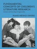 Fundamental Concepts of Children's Literature Research (eBook, ePUB)