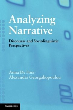 Analyzing Narrative (eBook, PDF) - Fina, Anna De