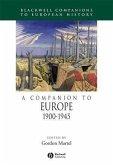 A Companion to Europe, 1900 - 1945 (eBook, PDF)
