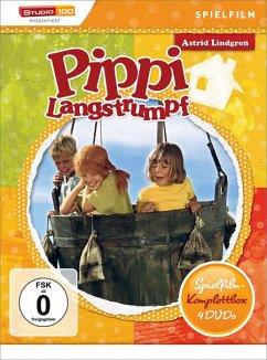 Astrid Lindgren: Pippi Langstrumpf - Spielfilm-Komplettbox (4 Discs)
