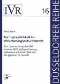 Rechtsstaatlichkeit im Versicherungsaufsichtsrecht