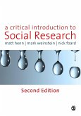 A Critical Introduction to Social Research (eBook, PDF)