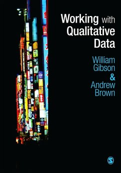 Working with Qualitative Data (eBook, PDF) - Gibson, William; Brown, Andrew