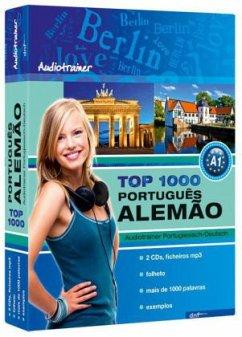 Top 1000 Audiotrainer Portugiesisch-Deutsch / Português-Alemao, 2 Audio/mp3-CDs m. Booklet