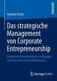 Das strategische Management von Corporate Entrepreneurship (eBook, PDF)