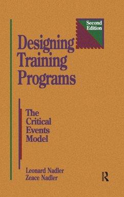 Designing Training Programs (eBook, ePUB) - Nadler, Zeace; Nadler, Leonard