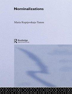 Nominalizations (eBook, PDF) - Koptjevskaja-Tamm, Maria