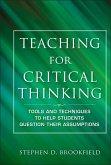 Teaching for Critical Thinking (eBook, ePUB)