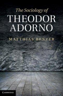 Sociology of Theodor Adorno (eBook, PDF) - Benzer, Matthias