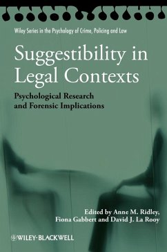 Suggestibility in Legal Contexts (eBook, ePUB) - Gabbert, Fiona; La Rooy, David J.; Ridley, Anne M.