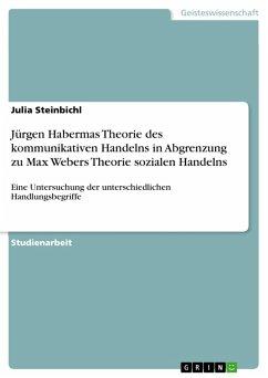 Jürgen Habermas Theorie des kommunikativen Handelns in Abgrenzung zu Max Webers Theorie sozialen Handelns (eBook, PDF)