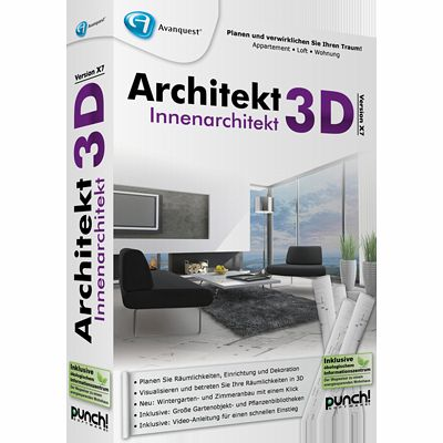 architekt 3d x7 innenarchitekt download f r windows. Black Bedroom Furniture Sets. Home Design Ideas