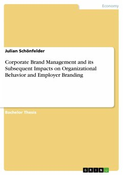 Corporate Brand Management and its Subsequent Impacts on Organizational Behavior and Employer Branding (eBook, PDF)
