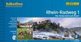 Bikeline Radtourenbuch Rhein-Radweg 01: Von Andermatt nach Basel