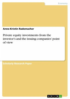 Private equity investments from the investor's and the issuing companies' point of view