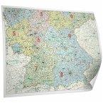 Bacher Organisations-Karte Deutschland Süd, Posterlandkarte, beschichtet
