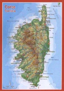 Korsika, Reliefpostkarte; Corsica