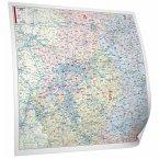 Bacher Postleitzahlen-Karte Nordrhein-Westfalen, Posterkarte beschichtet