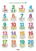 Fragenbär-Lernposter, Zahlen und Mengen von 1 bis 20 (Hochformat)