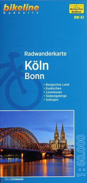 Bikeline Radkarte Radwanderkarte Köln / Bonn