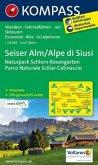 Kompass Karte Seiser Alm; Alpe di Siusi