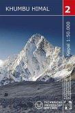 Nepal-Kartenwerk der Arbeitsgemeinschaft für vergleichende Hochgebirgsforschung Khambu Himal, Trekking-Karte